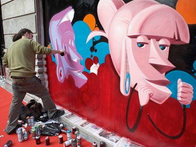 Graffiti shop shutters home