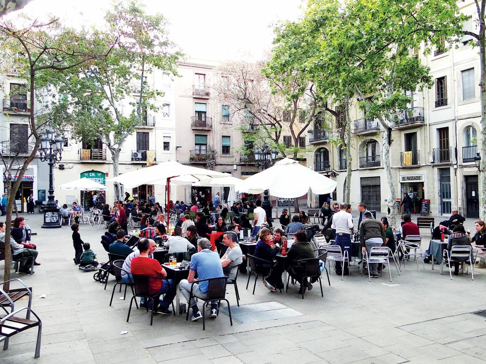 La densidad de establecimientos en la zona es incluso más elevada que en Ciutat Vella y Gràcia