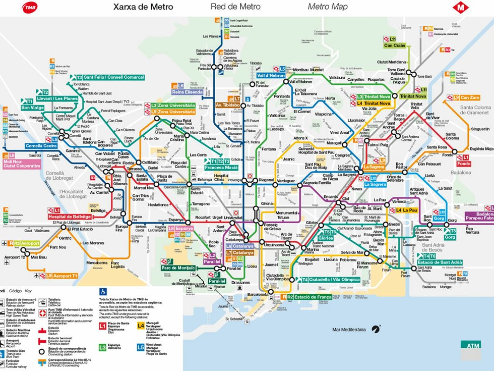 Get around Barcelona 2016 - guide to public transport in Barcelona ...