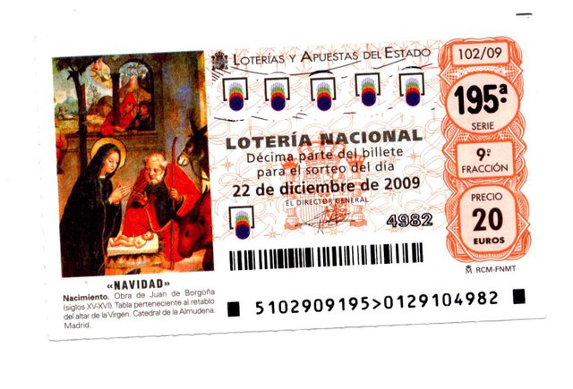 Lottery ticket - El Gordo