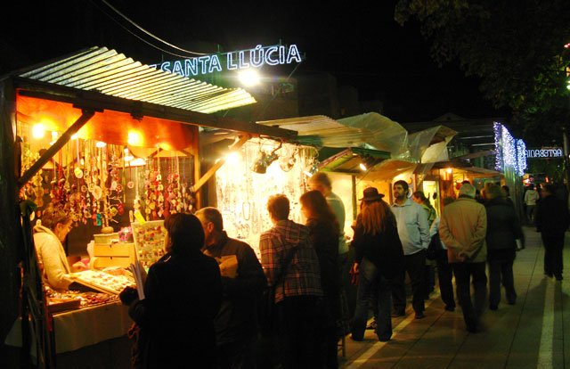 Santa Llucia at night