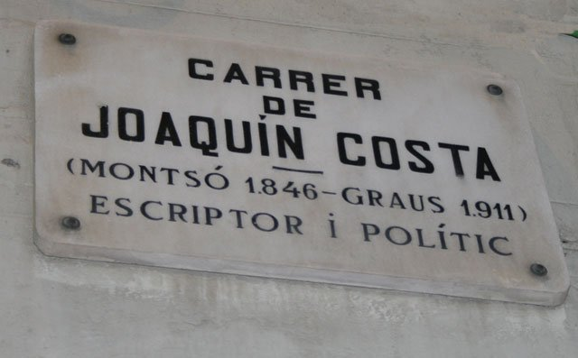 Joaquín Costa sign