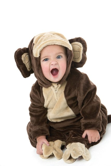 Baby dressed as monkey - Carnival