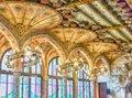 Interior decorations, Palau de la Musica Catalana, Barcelona, Ca