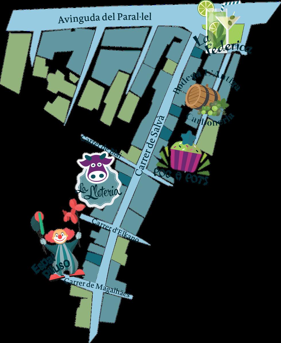 Street Life: Carrer de Salvà map