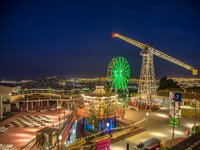 Tibidabo amusement park at night