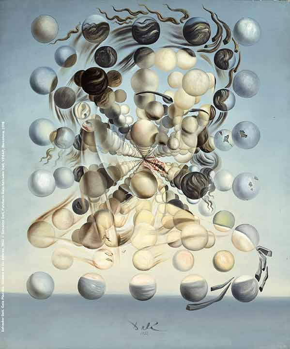 Salvador Dalí. Gala Placidia. Galatea of the Spheres, 1952.