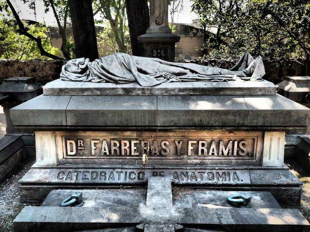 A Tomb in Montjuïc Cemetery