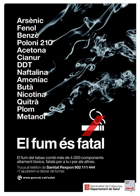 Anti-smoking poster