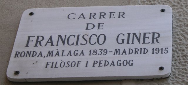 Francisco Giner sign