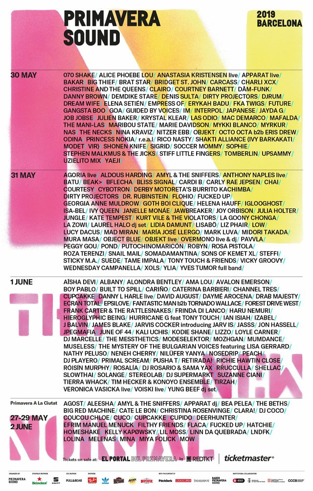 Primavera Sound 2019 Lineup
