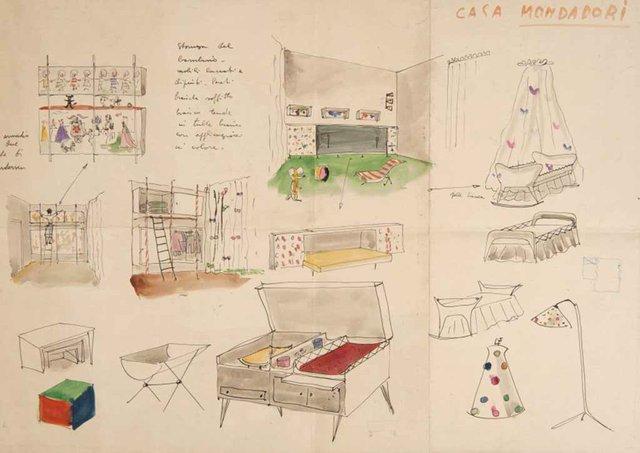 Lina-Bo-and-Carlo-Pagani,-Child's-Room-Furniture-Study-for-Mondadori-Residence,-1945---2.jpg