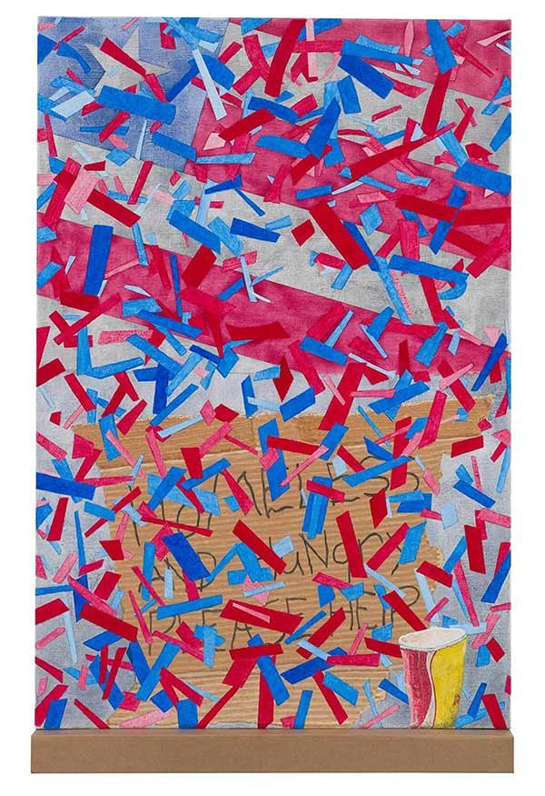 CONFETTI AND CARDBOARD (HOMELESS AND HUNGRY PLEASE HELP) 2016 Wayne E Campbell.jpg