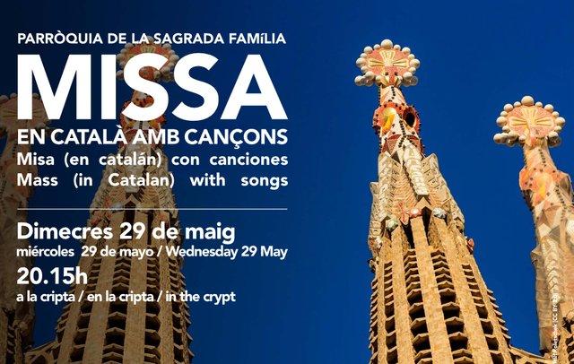 Choir of St, Peter's Berkhampstead at Sagrada Familia May 29.png
