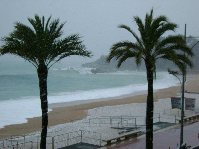 Snow on the Costa Brava