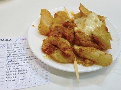 Patatas bravas at Bar Tomàs