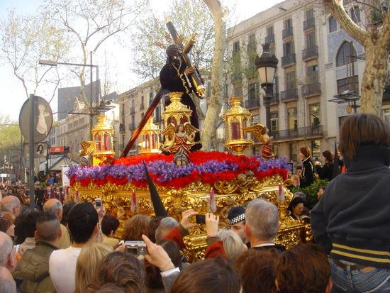 Easter Procession on the Rambla
