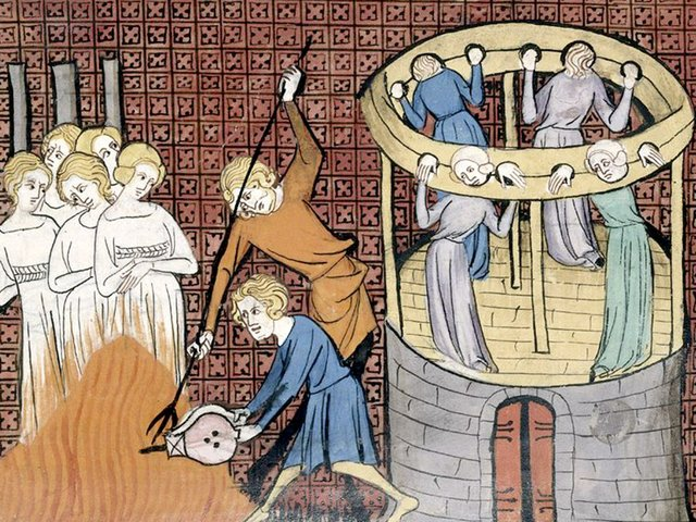 Detail-of-a-miniature-of-witches-being-burnt-and-tortured,-from--Chroniques-de-France-ou-de-St-Denis,-1332-1350-courtesy-of-the-British-Library-v2.jpg
