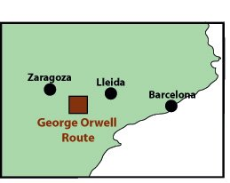 George Orwell route map