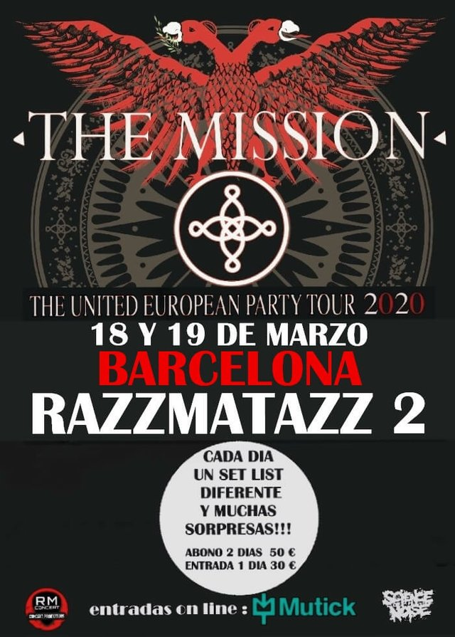 The Mission, United European Party Tour 2020