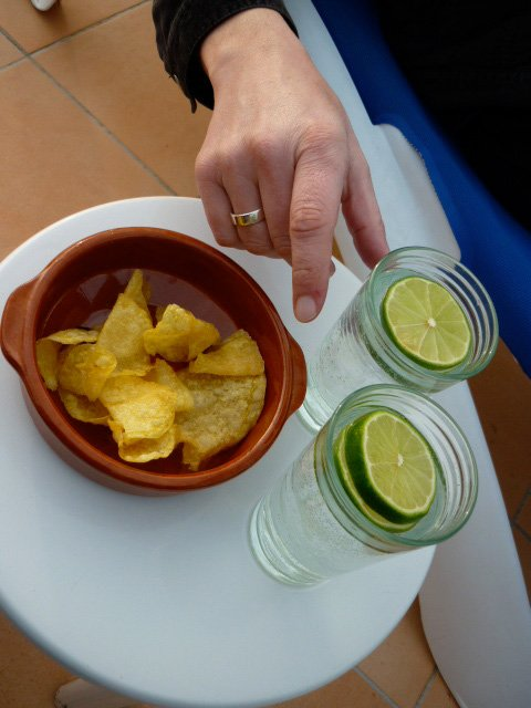 Crisps and gin