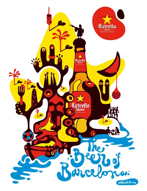 The beer of Barcelona - Estrella
