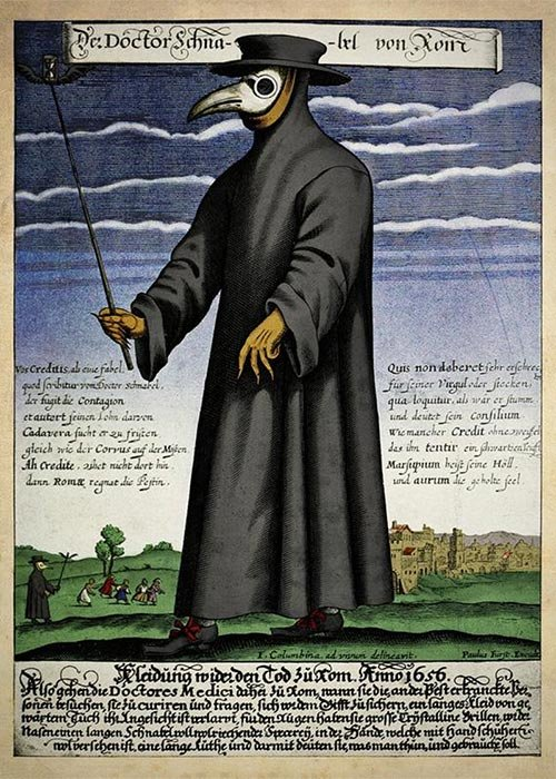 Color-copper-engraving-of-Doctor-Schnabel-[i.e-Dr-Beak],-a-plague-doctor-in-seventeenth-century-Rome,-published-by-Paul-Fürst,-ca.jpg