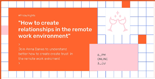 How to create relationships in the remote work environment