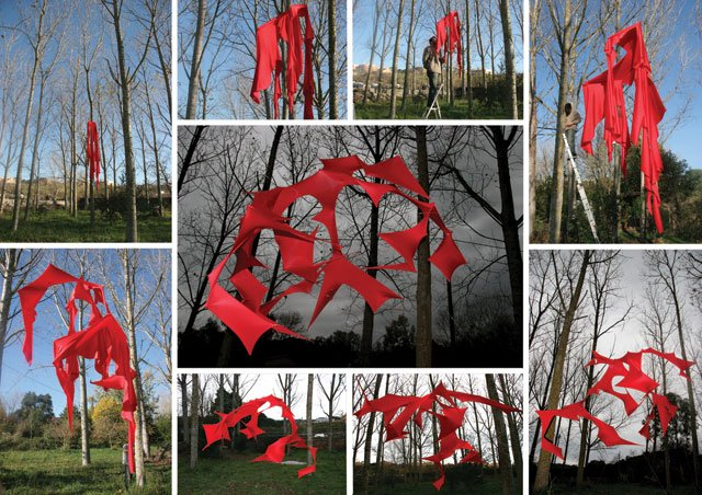 Instalación de escultura