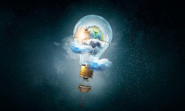 Bulb aerostat as energy concept flying high in sky.jpg