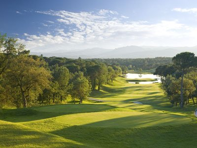 PGA Catalunya Resort 13th hole stadium course
