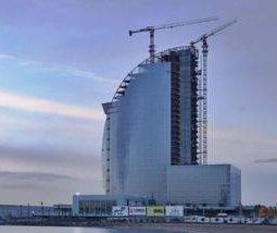 W Hotel under construction