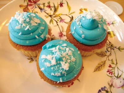 Blue cup cakes