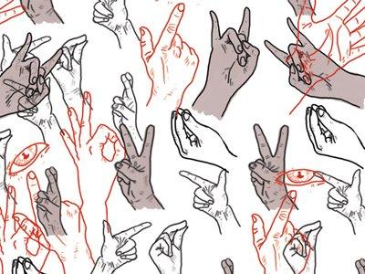 hand gestures home