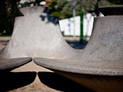 Public art - Park benches - Beverly Pepper