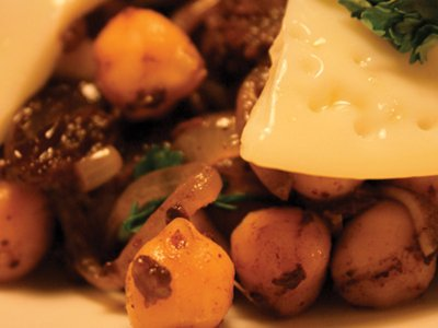 Chickpea and Morcilla salad