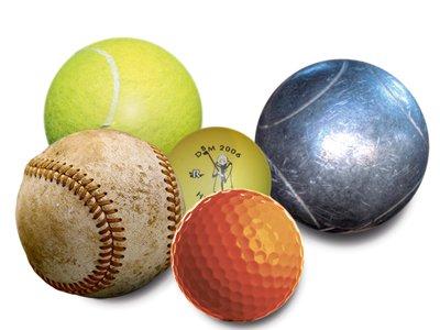 Tennis ball, baseball, golf ball, Sporting Challenge article Home