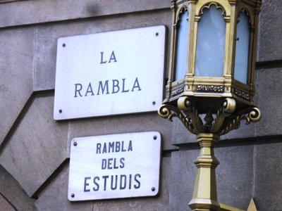 La Rambla street sign home