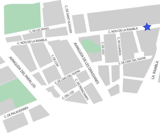 Nou de la Rambla (map)