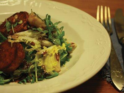 Sweet Potato and Escarola Salad