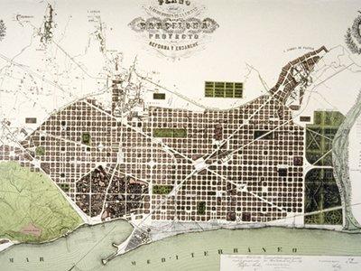 Ildefons Cerdà's original plan for Eixample