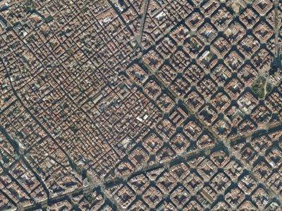 Street plan Gràcia - Eixample