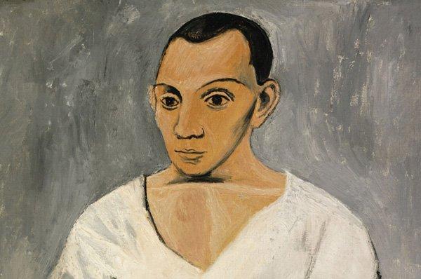 Pablo Picasso - Autorretrato con paleta