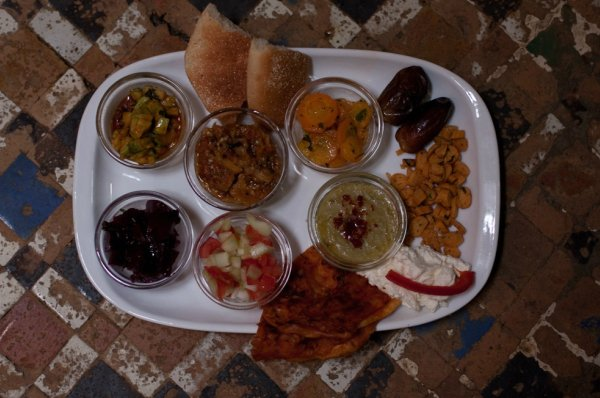 A selection of Moroccan salads