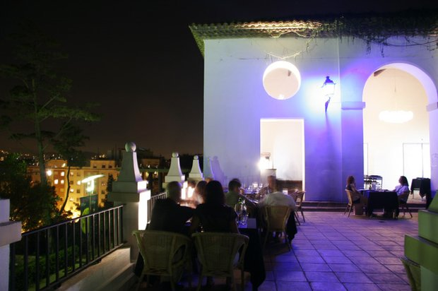 The terrace of the Sifó restaurant that will be open throughout the Grec festival in the theatre's gardens