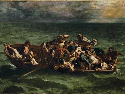 Delacroix: The Shipwreck of Don Juan, 1840. Musée du Louvre, Paris