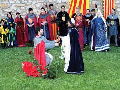 Entrega de la Rosa, Setmana Medieval de La Llegenda de Sant Jordi