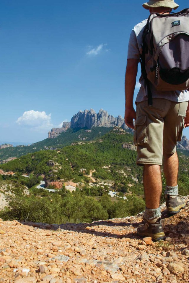 Following the Camí de Sant Jaume to Montserrat