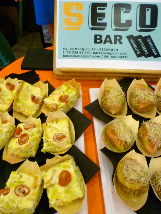Sala Montjuïc 2012–Tapas from Bar Seco