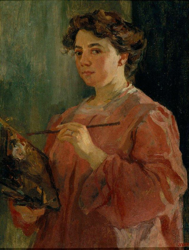Lluisa Vidal self protrait, 1899.jpg